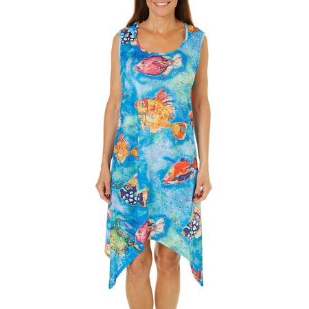Leoma Lovegrove Womens Catch And Release Dress Cover-Up
