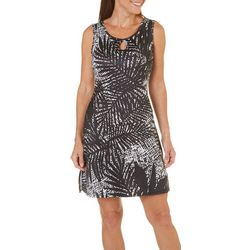Paradise Bay Womens Fern Basket Cover-Up Dress