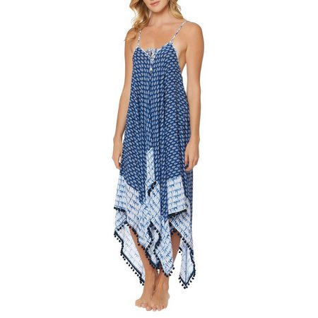 Jessica Simpson Womens Bondi Lace Front Cover-Up Dress