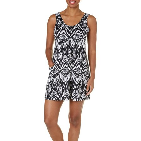 Pacific Beach Womens Island Ikat Dress Cover-Up