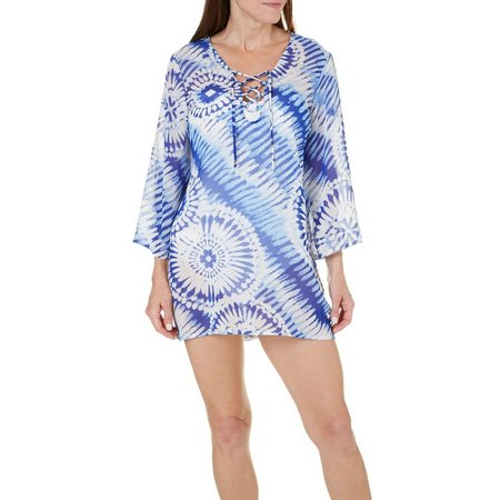 New! Pacific Beach Womens Boardwalk Tunic Cover-Up