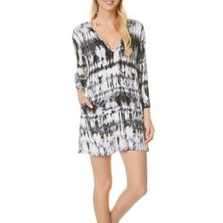 Pacific Beach Womens Tie-Dye Tunic Cover-up