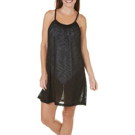 Pacific Beach Womens Spectatur Slub Dress Cover-Up