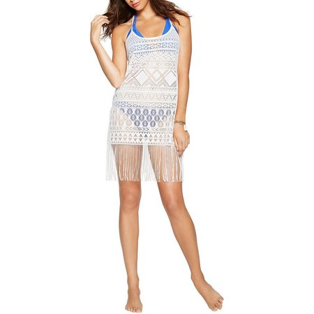 Hawaiian Tropic Womens Knit Lace Art Cover-Up