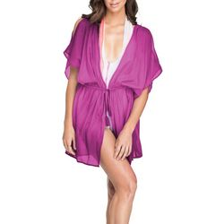 Hawaiian Tropic Womens Kimono Dress Cover-up