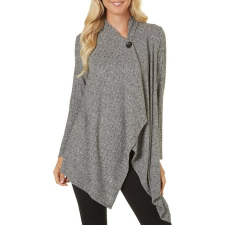 Dept 222 Womens Ribbed Knit Cardigan