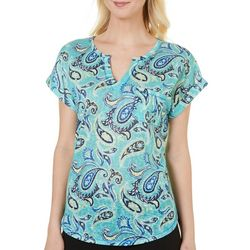 Dept 222 Womens Dolce Vita Paisley Print Top