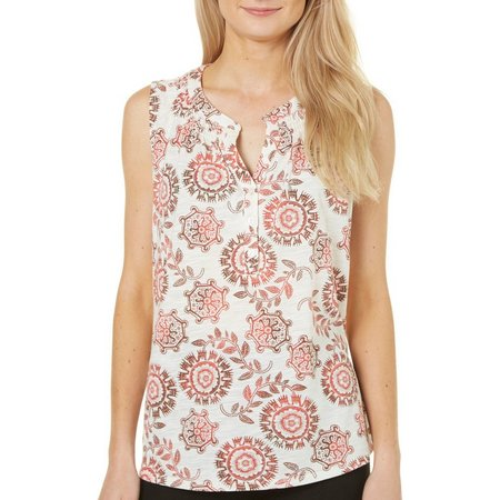 Dept 222 Womens Sunset Delight Medallion Print Tank