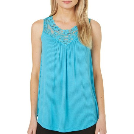 Dept 222 Womens Sunset Delight Pleated Front Tank