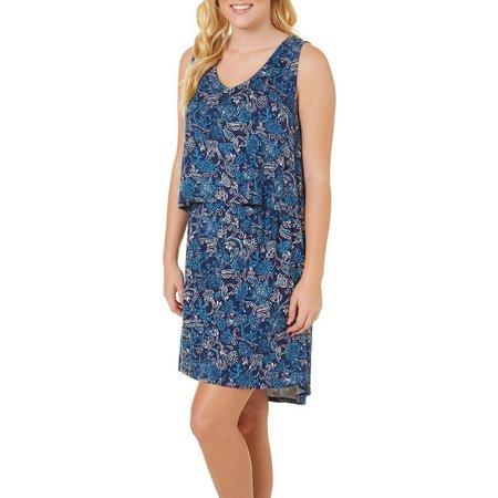 Dept 222 Womens Sunset Delight Floral Popover Dress