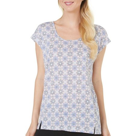 Dept 222 Womens Stylized Floral Print Top