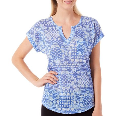 Dept 222 Womens Fade to Blue Floral Dot