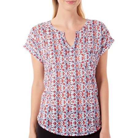 Dept 222 Womens Fade to Blue Scroll Print