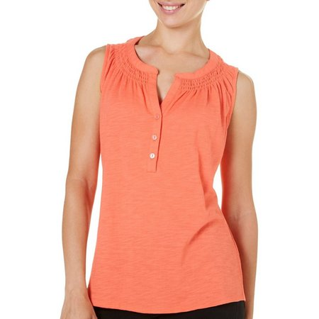 New! Dept 222 Womens Essential Solid Slub Tank