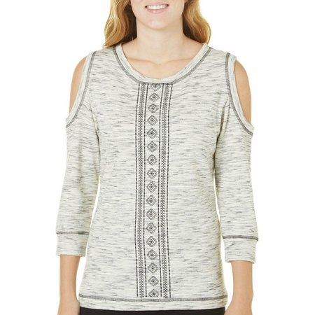 Dept 222 Womens Deep Sea Cold Shoulder Sweatshirt