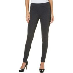 Dept 222 Womens Solid Ponte Leggings