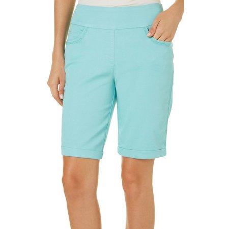 Dept 222 Womens Roll Cuff Bermuda Shorts
