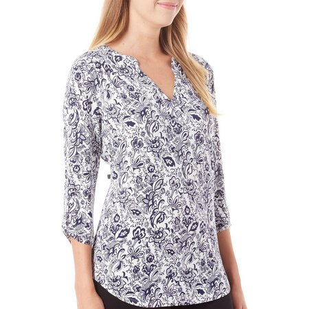 Dept 222 Womens Cabana Nights Floral Henely Top