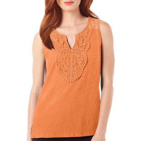 Dept 222 Womens Cabana Nights Crochet Tank Top