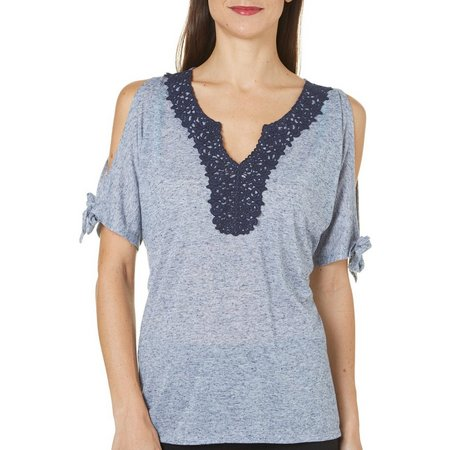Dept 222 Womens Cabana Nights Cold Shoulder Top