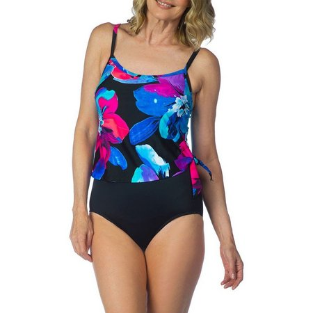 Maxine Womens Flourish One Piece Swimsuit