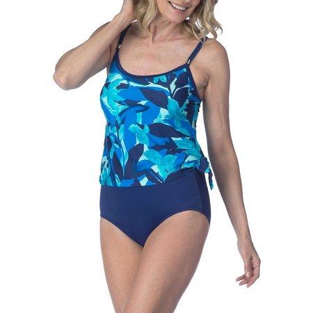 Maxine Womens Kaley Tie Side One Piece Swimsuit