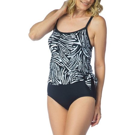 Maxine Womens Tidal Wave One Piece Swimsuit