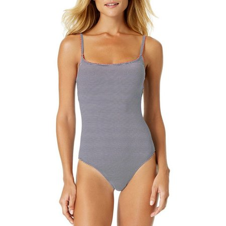 Anne Cole Womens Baby Stripe One Piece Swimsuit