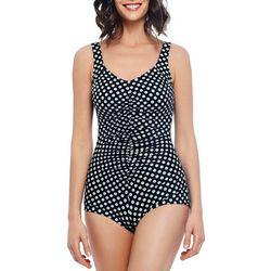 Paradise Bay Womens Neutral Spot Girl Leg Swimsuit
