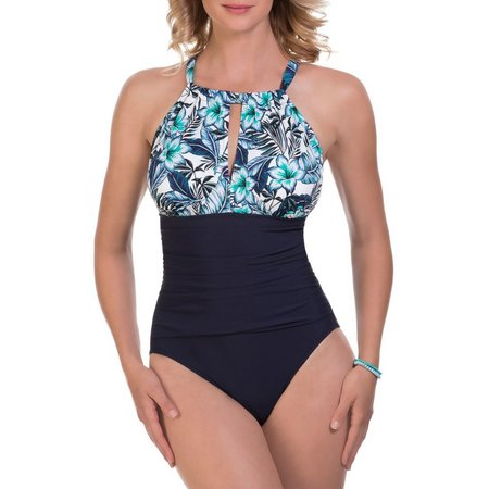 Paradise Bay Womens Palm Spring High Neck One