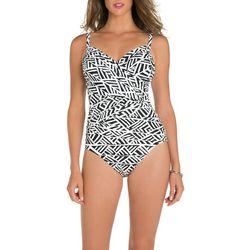 New! Paradise Bay Womens Nouveau Script Swimsuit