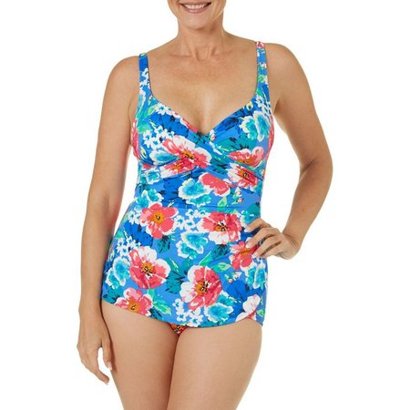 Paradise Bay Womens Garden Beauty Sarong One Piece