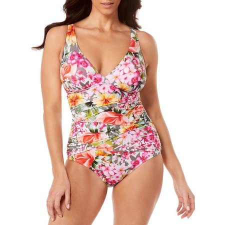Paradise Bay Womens Amore V-Neck Mio One Piece