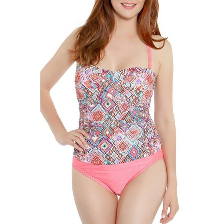 Beach Diva Womens Montage One Piece Swimsuit