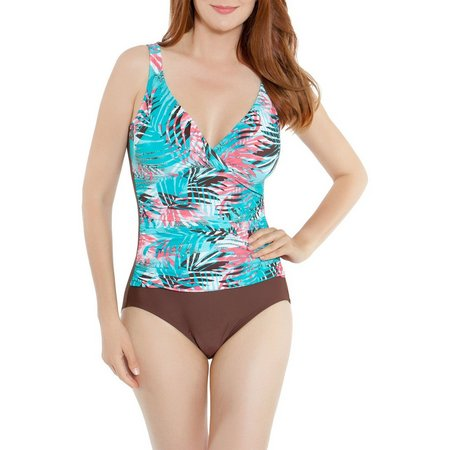 Beach Diva Womens Tahitian Holiday One Piece Swimsuit