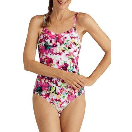 Amoena Womens Delhi Mastectomy One Piece Swimsuit