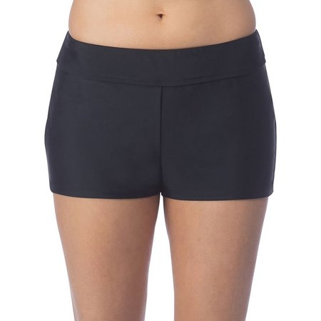 Ocean Avenue Womens Solid Banded Waist Swim Shorts