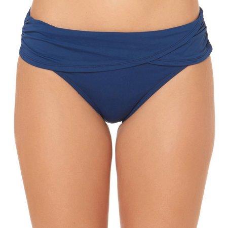Bleu Rod Beattie Solid Sarong Hipster Swim Bottoms