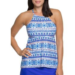 Aqua Couture Womens Moroccan Tile Tankini Top