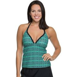 Aqua Couture Mesmerized Stripe Push-Up Tankini Top