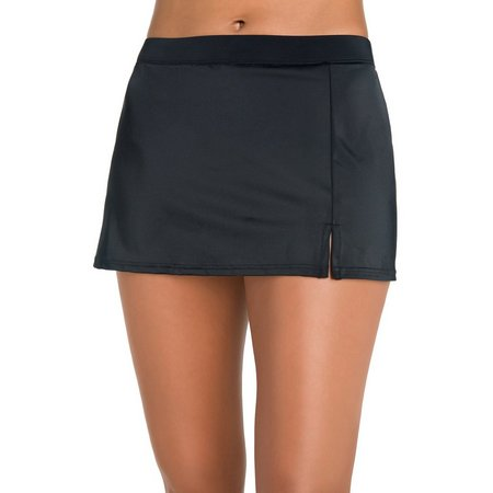 Caribbean Joe Womens Front Slit Swim Skirt