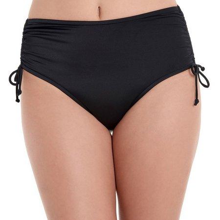 Caribbean Joe Womens Solid Adjustable Swim Bottoms