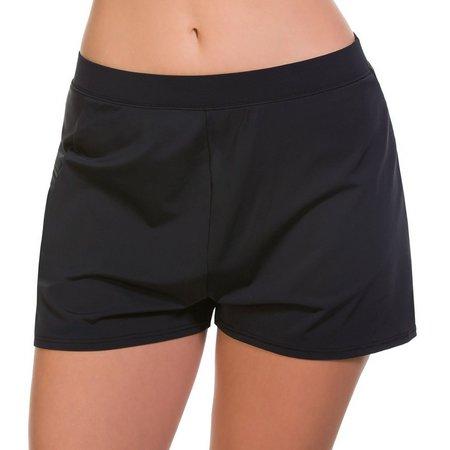 Caribbean Joe Womens Zip Pocket Swim Shorts