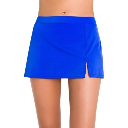 Caribbean Joe Womens Front Slit Swim Skirt