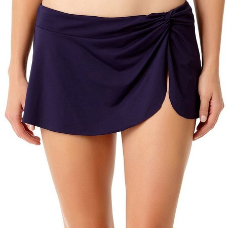 Anne Cole Womens Sarong Split Front Swim Skirt