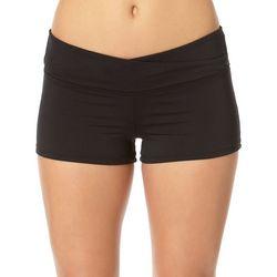 Cole of California Womens Twisted Swim Boy Shorts