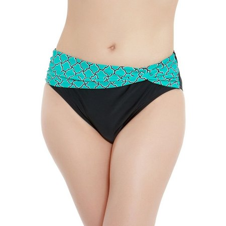 Beach Diva Womens Oasis Tile Twisted Swim Bottoms