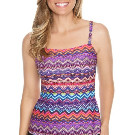 Beach Diva Womens Midnight Mirage Tankini Top