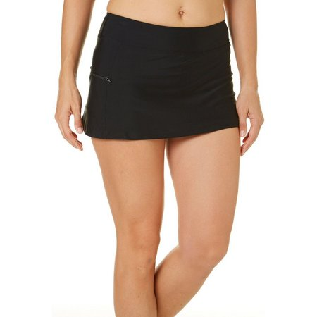 Beach Diva Womens Zip Pocket Swim Skort