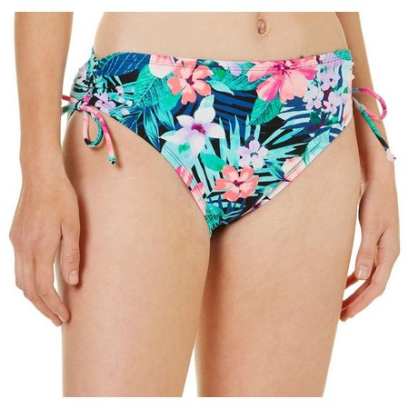 Beach Diva Womens Opulent Oasis Side Tie Swim